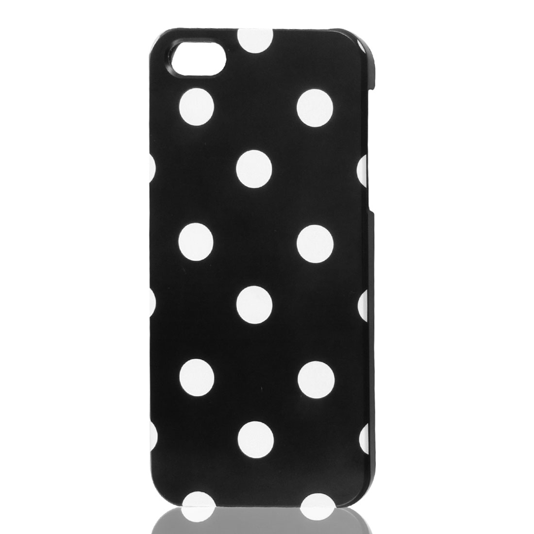 White Polka Dots Black Phone Hard Back Case Cover for Apple iPhone 5 5G