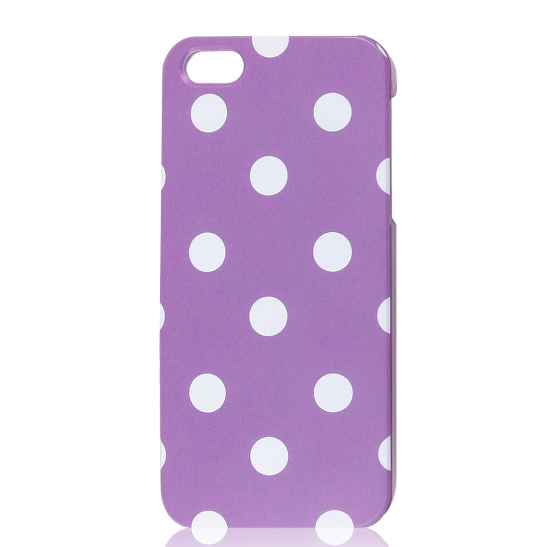 White Polka Dots Purple Phone Hard Back Case Cover for Apple iPhone 5 5G