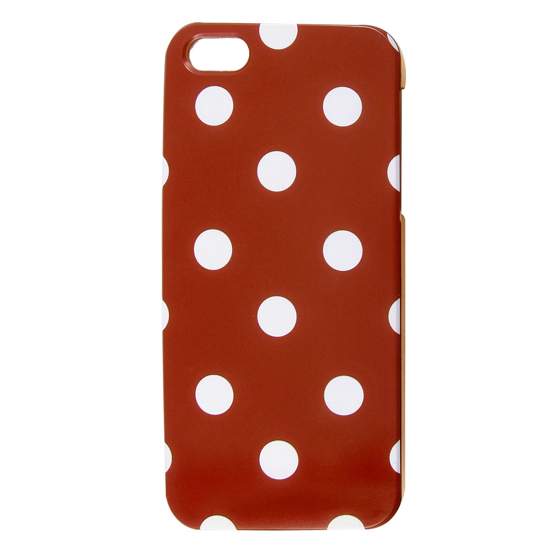 White Polka Dots Red Phone Hard Back Case Cover for Apple iPhone 5 5G
