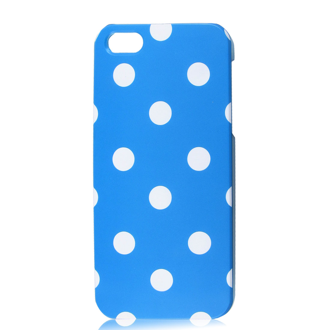 White Polka Dots Sky Blue Phone Hard Back Case Cover for Apple iPhone 5 5G
