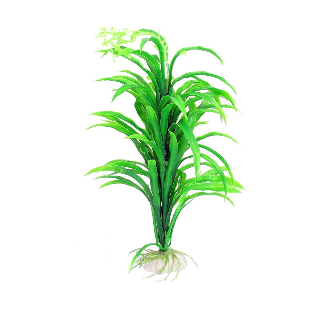 "9.1"" Height Green Leaf Underwater Plant Decor for Aquarium Fish Tank"