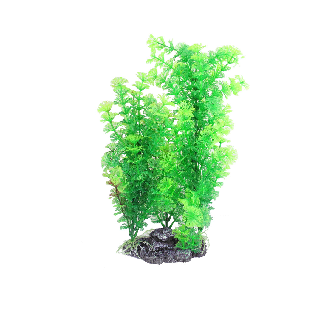 "15.7"" Height Green Manmade Plastic Plant Fish Pond Ornament w Base"