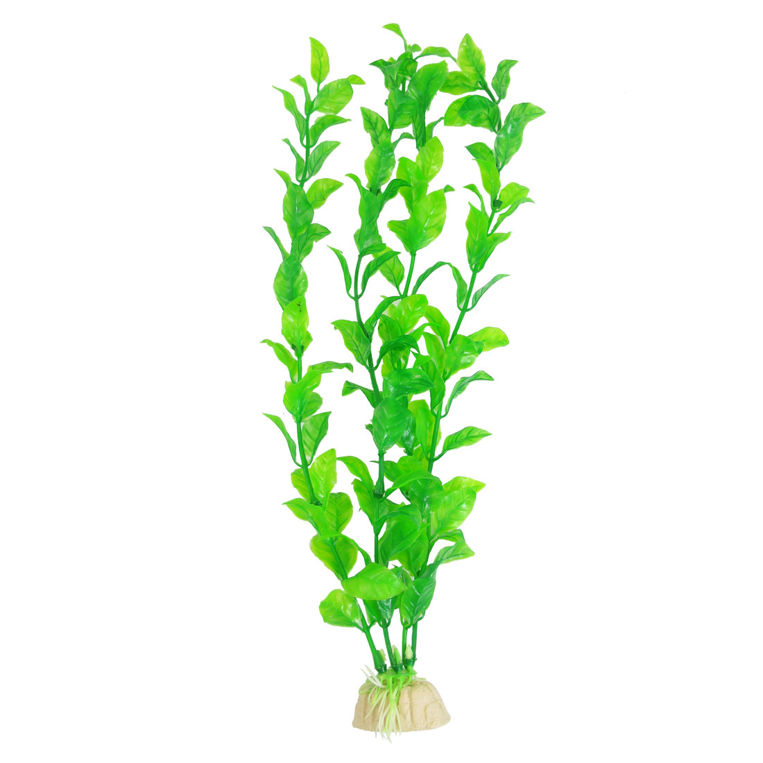 "12.6"" High Green Leaf Underwater Plant Decor for Aquarium Fish Tank"