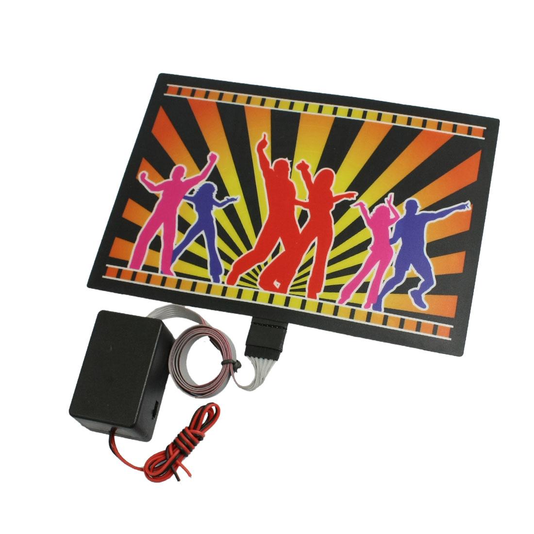 Van Car Sound Music Activated Equalizer Multicolor Flash Light Sticker Sign