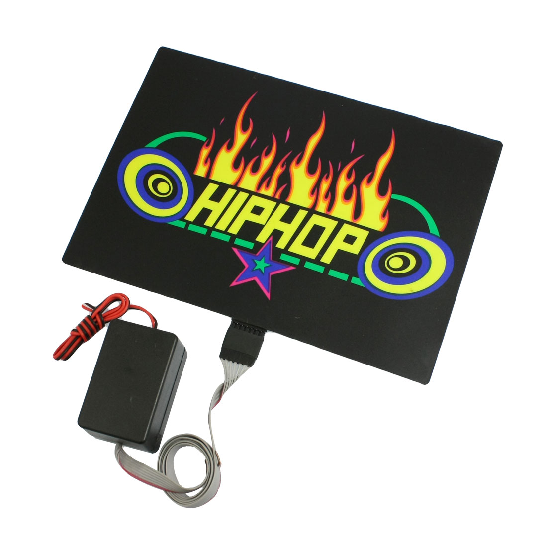 Car Windshield Flame Print Sound Music Control Equalizer Flash Light Sticker