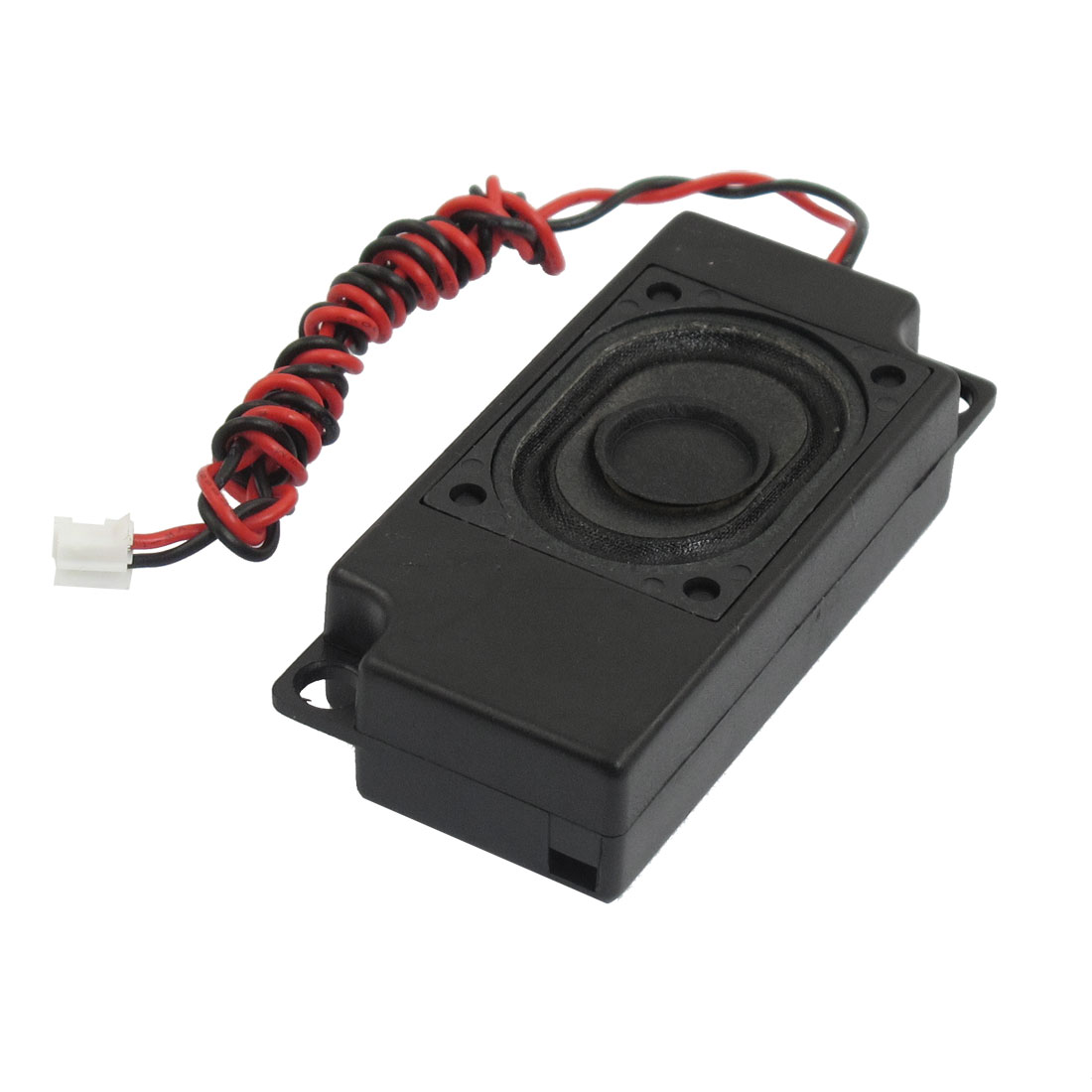 Black Plastic Shell 2W 8 Ohm Powered Sound Audio Speaker Tweeter Horn