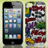 Colorful Ha Ha Boom Doodle Hard Back Case Cover for Apple iPhone 5 5G