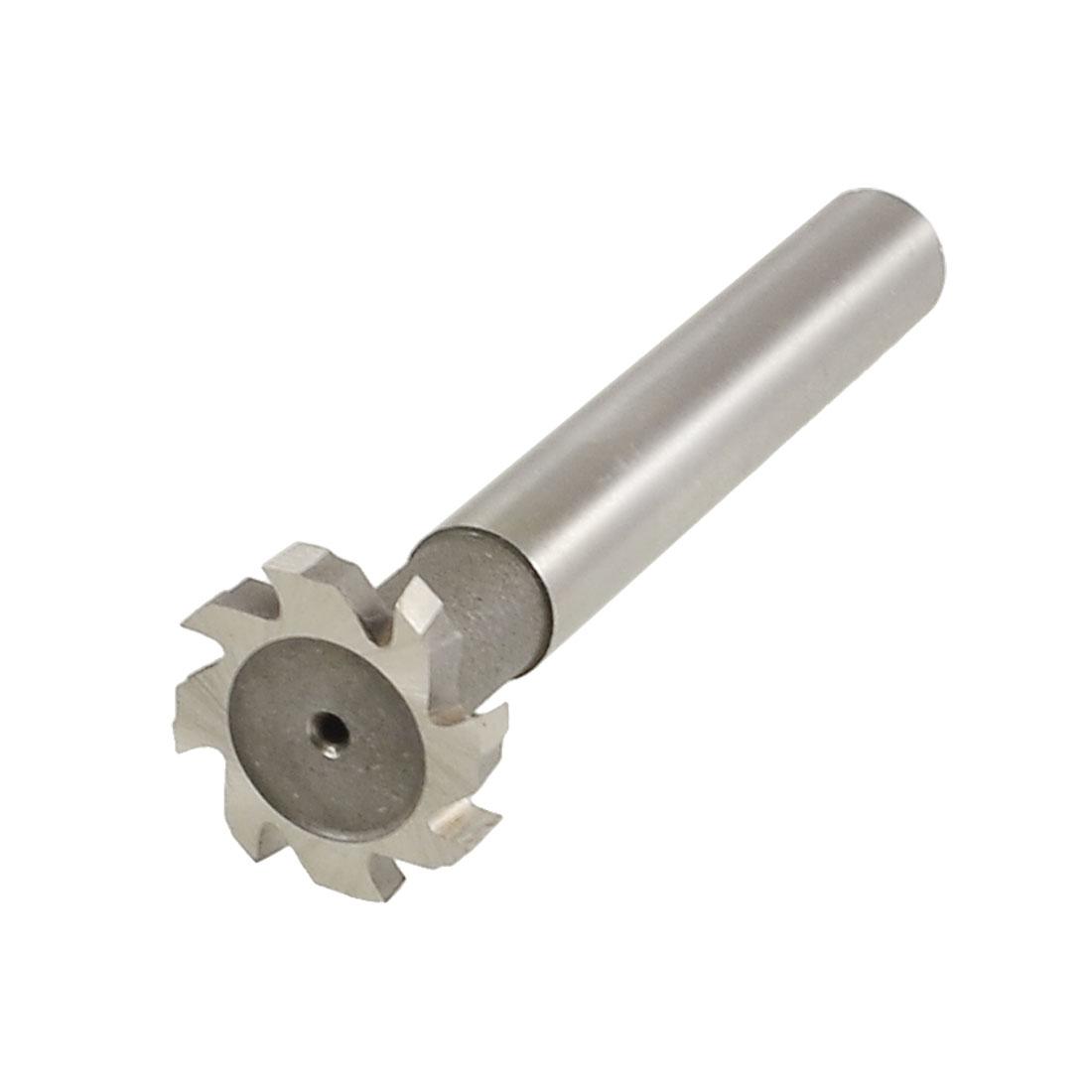 """Straight Shank 8 Flutes 64/64"""" x 5/32"""" HSS AL T Slot Cutter w Plastic Storage Box"""