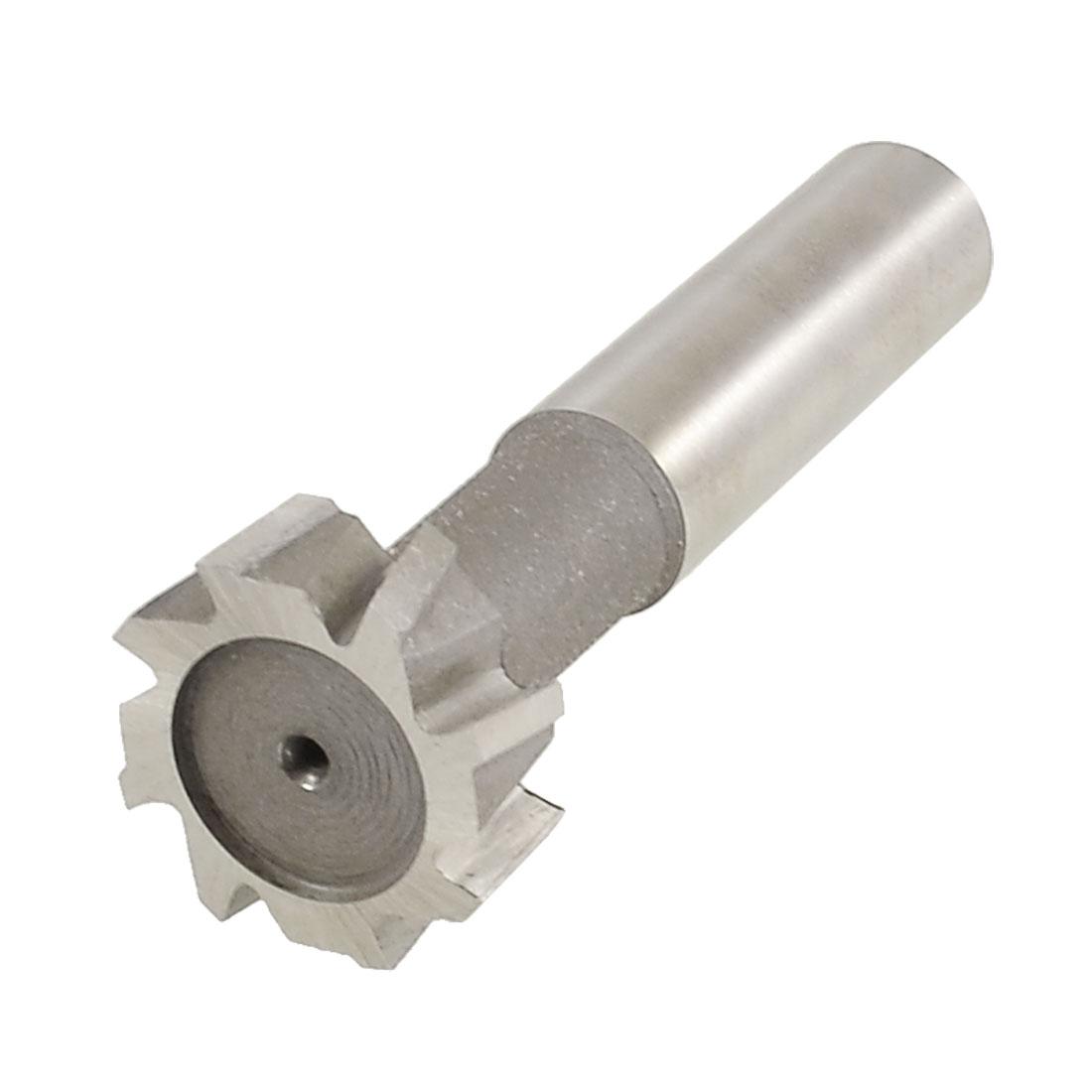 """1 1/5"""" x 3/8"""" 8 Flutes Straight Shank T Slot Cutter Tool w Plastic Storage Box"""
