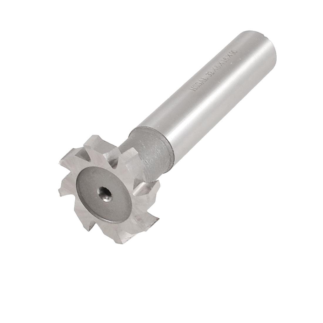 """Straight Shank 8 Flutes 1 7/25"""" x 15/64"""" HSS AL T Slot Cutter w Plastic Storage Box"""