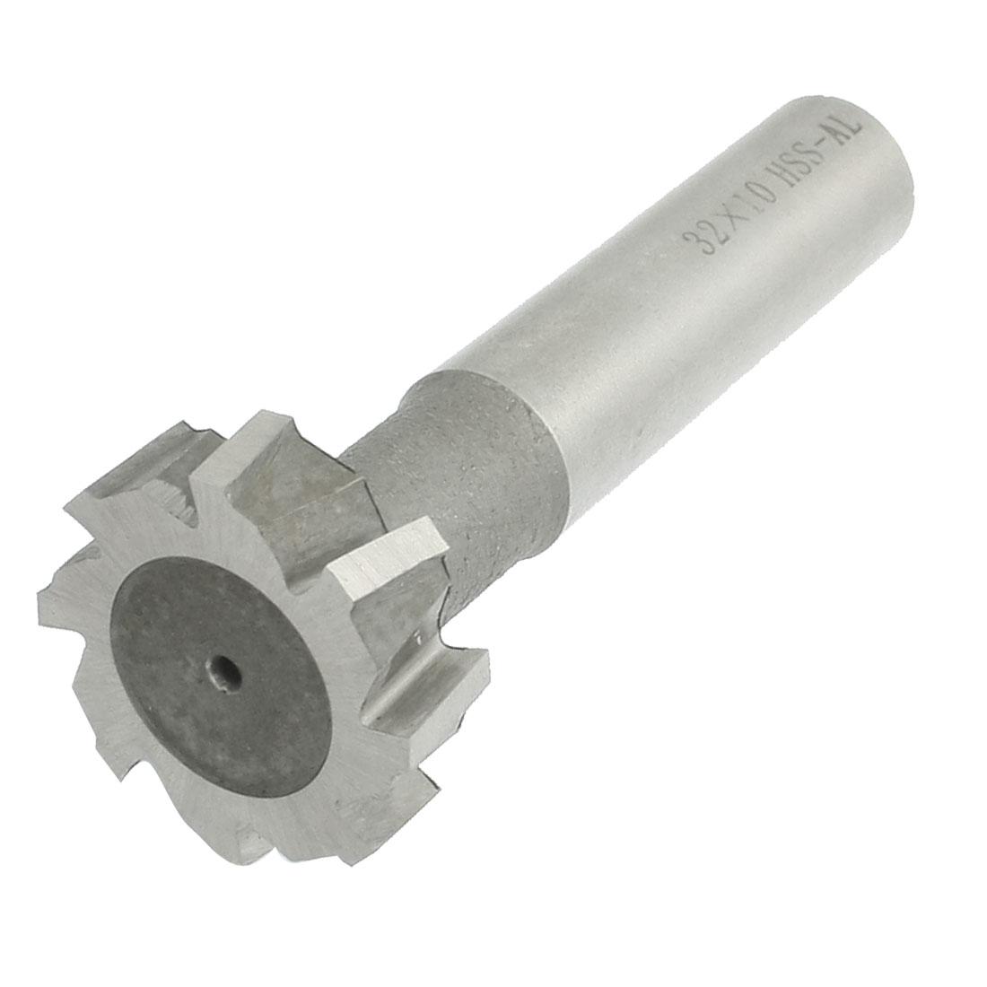"Straight Shank 1 7/25"" x 13/32"" HSS 8 Flutes T Slot Milling Cutter"