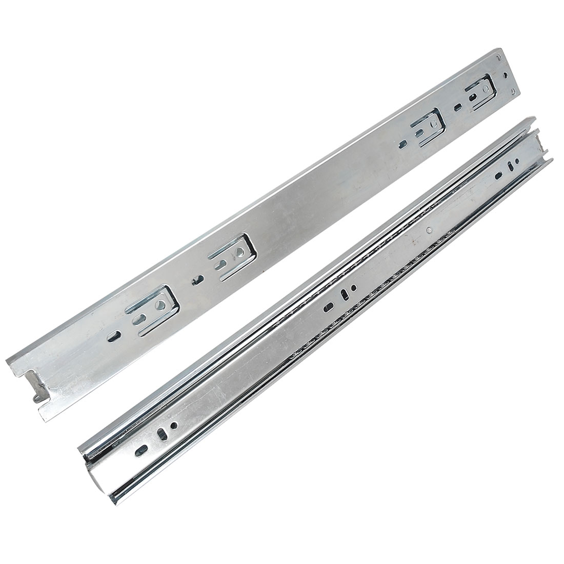 "2 Pcs 18"" Steel Ball Bearing Telescoping Drawer Runners Slide Rails"