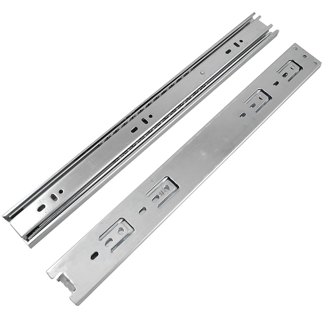 "Pair 16"" Ball Bearing Telescopic Furniture Drawer Slides Sliding Rails"