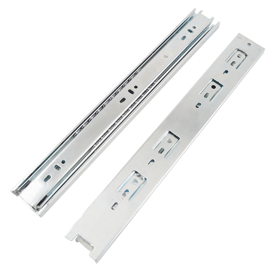 "2 Pcs 14"" Ball Bearing Telescopic Drawer Slides Sliding Rails"