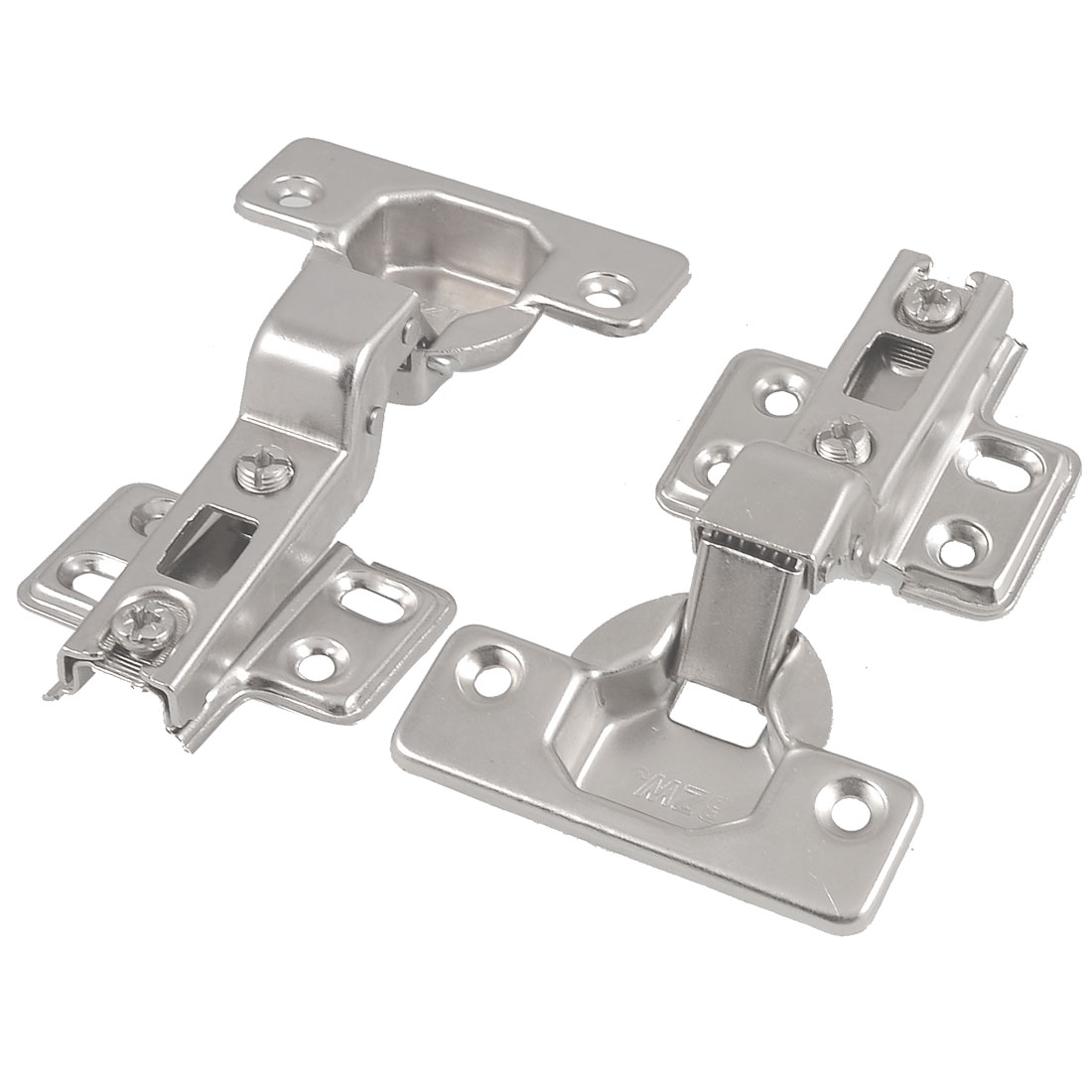 Furniture Hardware Buffer Metal Concealed Cabinet Hinge 2 Pcs w Screws