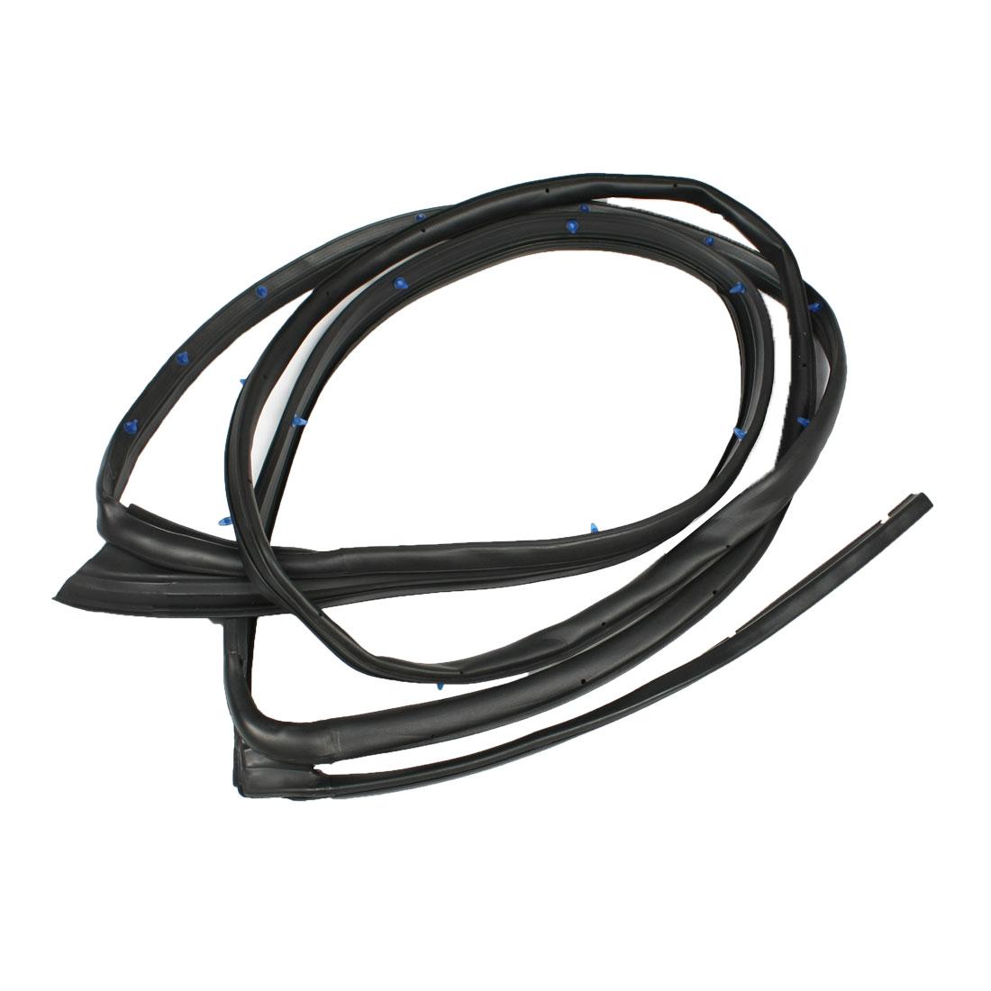 Rubber Left Side Rear Door Weatherstrip Seal Strip Black 72865-SDA-A01