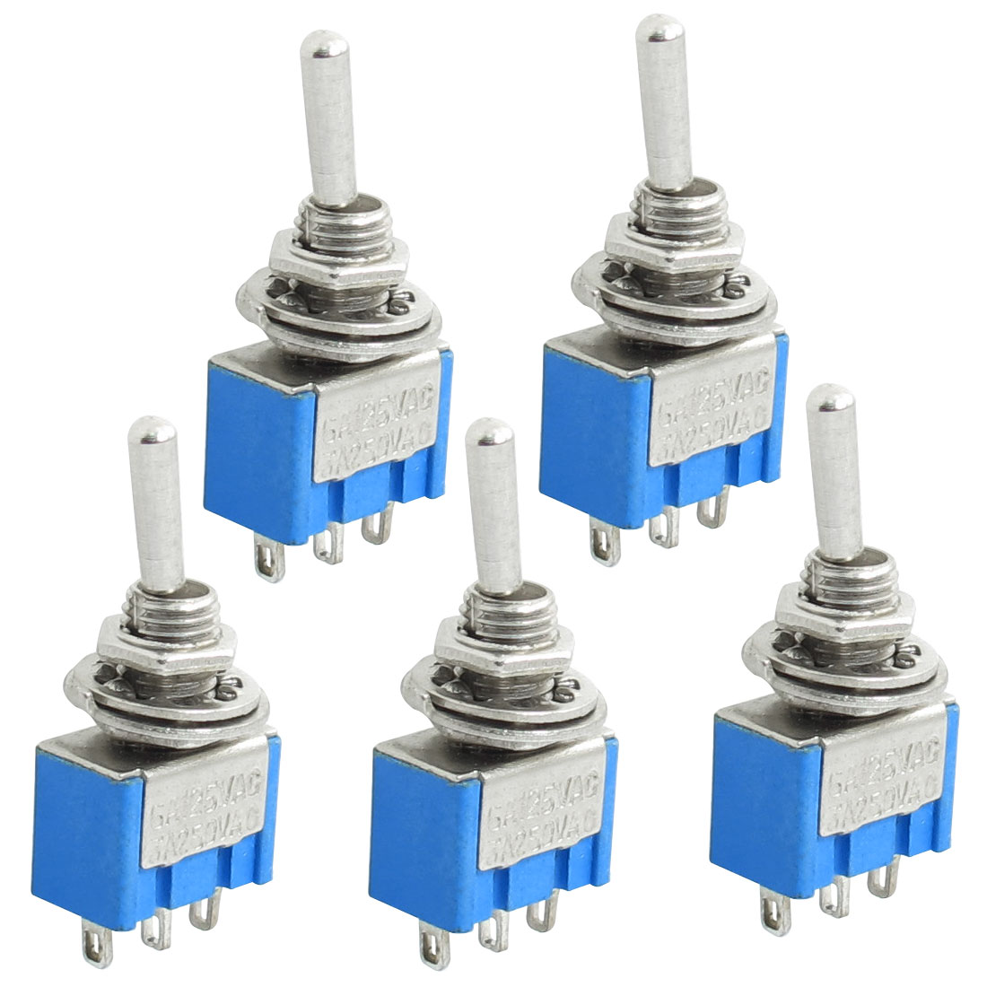 5x 3 Terminals SPDT On Off On Toggle Switches AC 125V 6A
