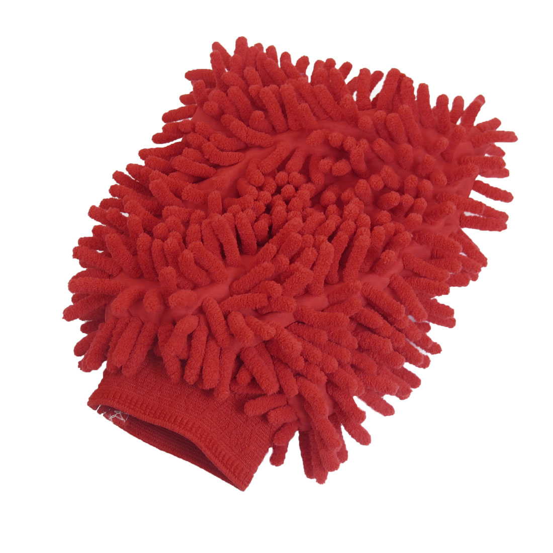 Microfiber Chenille Wash Mitt Mitten Car Cleaning Glove Red