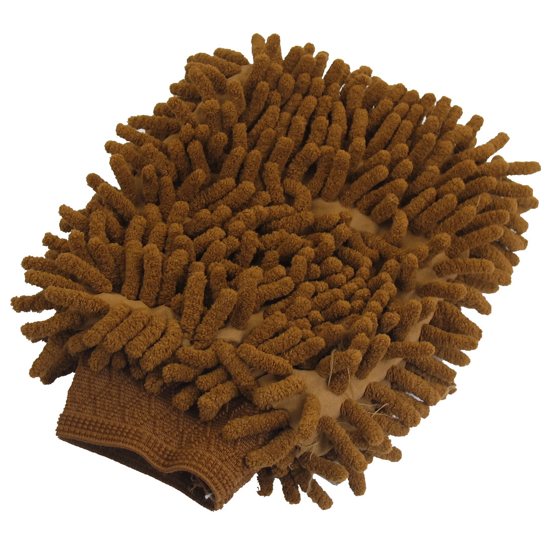 Microfiber Chenille Wash Mitt Mitten Car Cleaning Glove Brown
