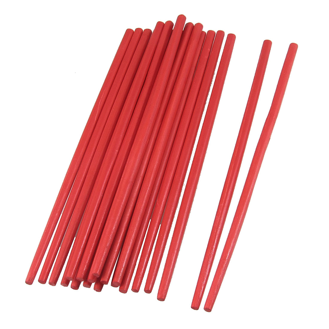 "10 Pairs 9.4"" Long Kitchen Tableware Handcrafted Bamboo Chopsticks Red"
