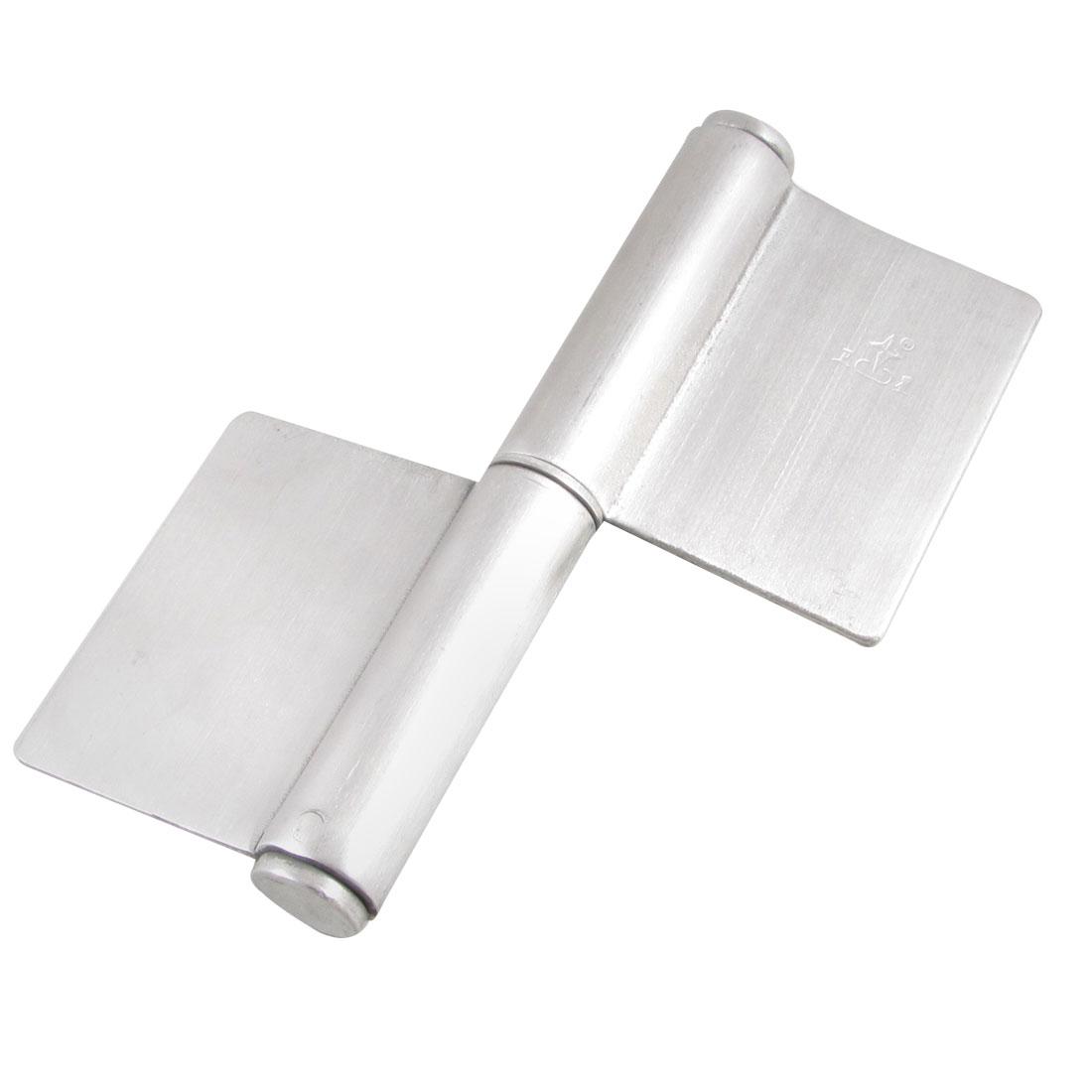 """5"""" Metal Rotation Door Soldering Butt Hinge Silver Tone"""