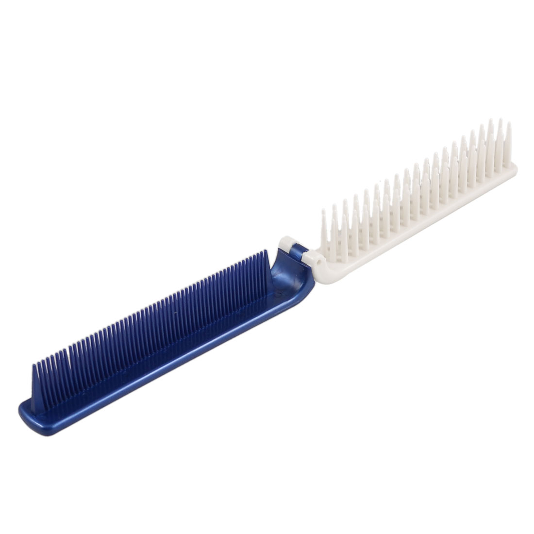Travelling Hairdressing Plastic Coarse Fine Teeth 2 Ways Foldable Hairdressing Comb Blue White