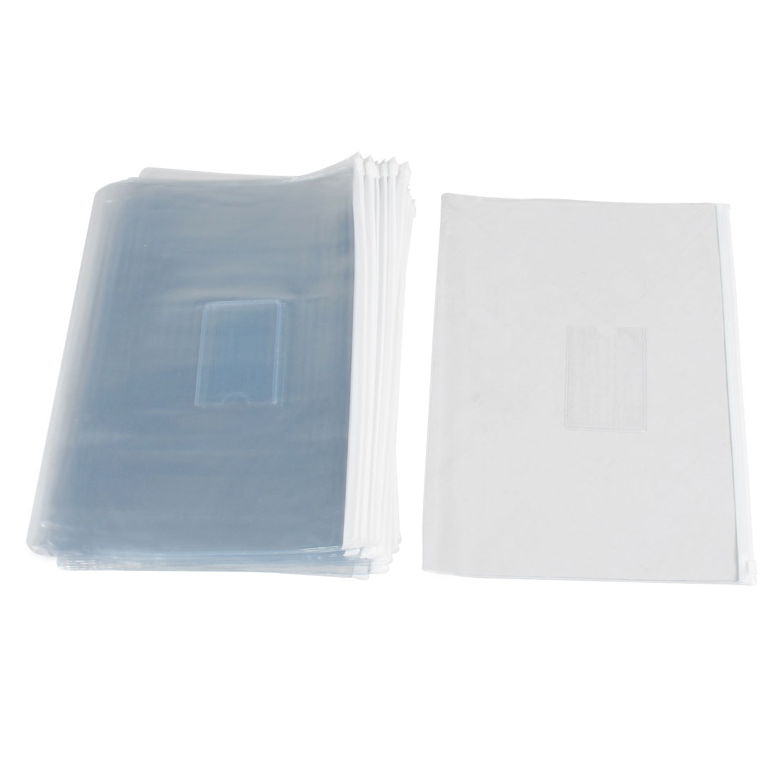 20pcs White Clear Plastic Slider Zip Lock Bags Files Holder for A4 Paper