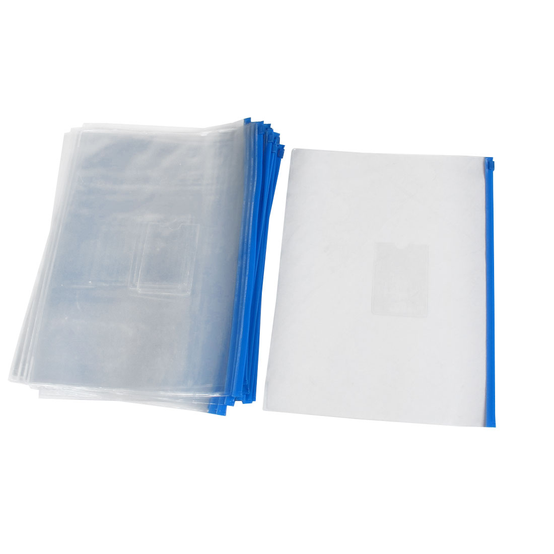 20pcs Blue Clear Plastic Slider Zip Lock Bags Files Holder for A4 Paper