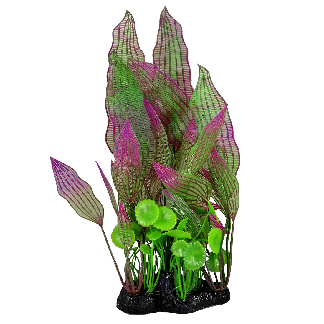 30cm Height Manmade Plastic Grass Green Purple for Fish Tank