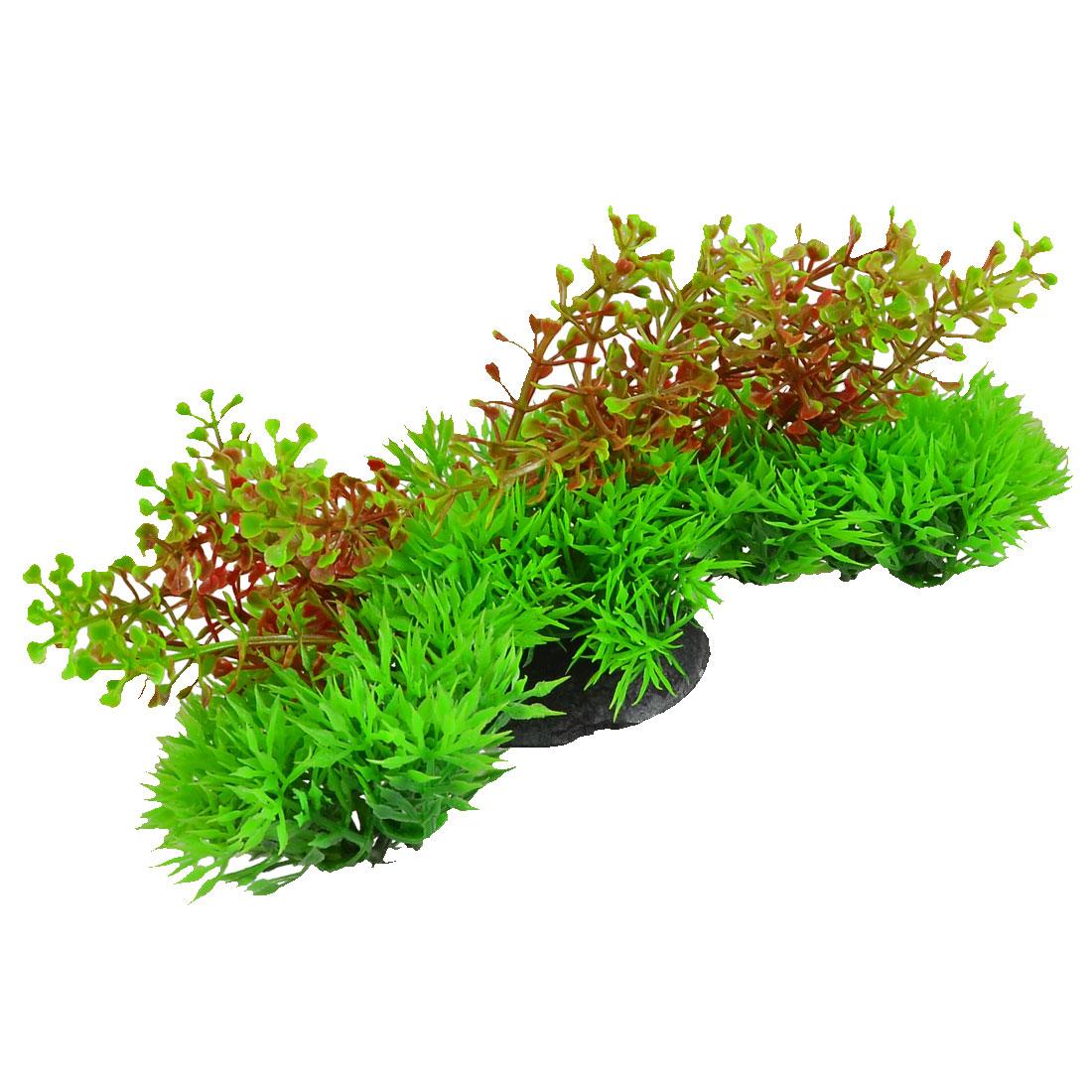 Fish Tank Aquarium Decor Plastic Green Amaranth Grass Plant 20cm Width
