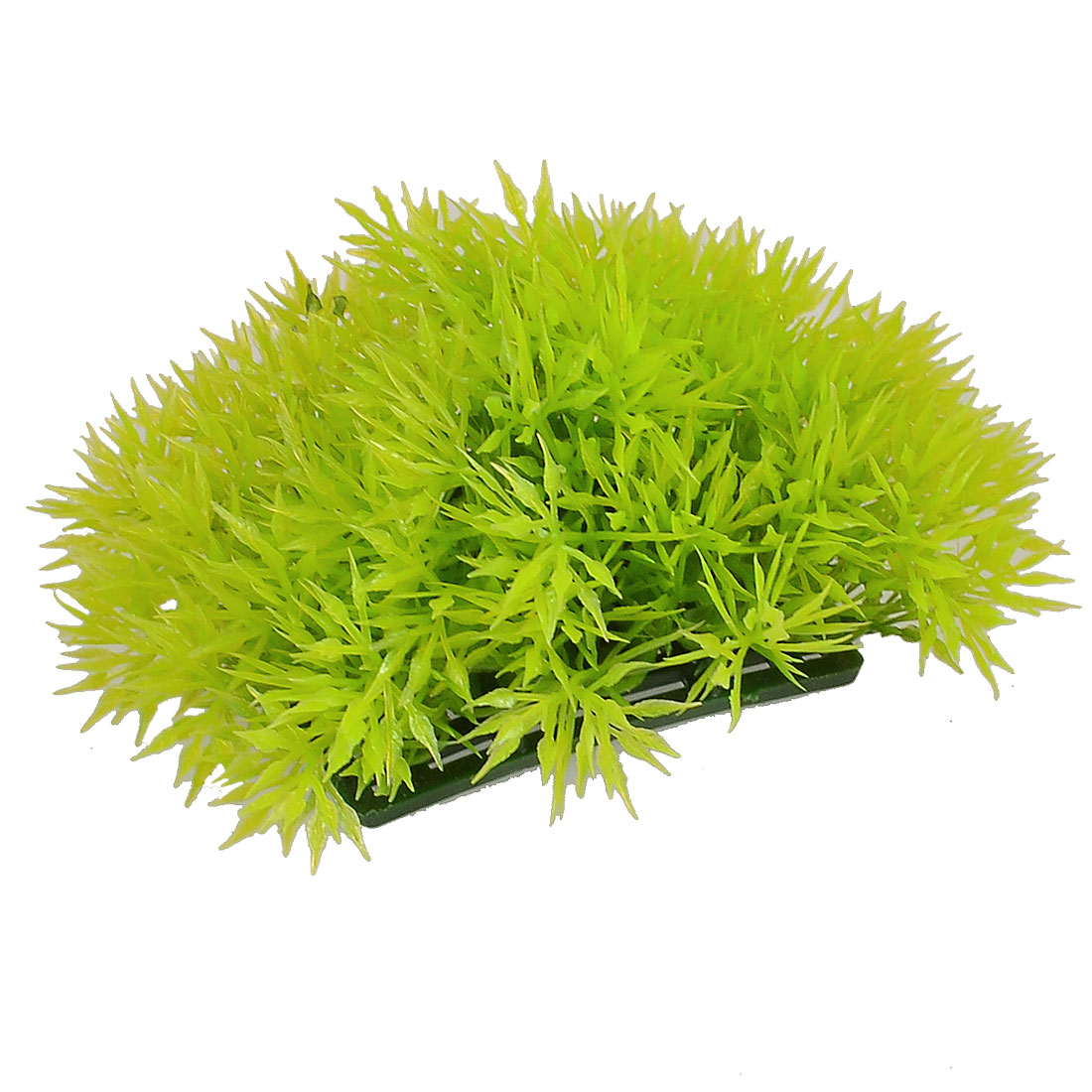 Fish Tank Aquarium Yellowgreen Plastic Artificial Grass Plant 9cmx7cm