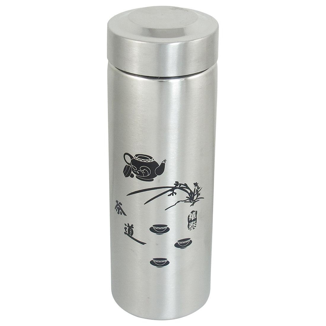 Silver Tone Stainless Steel Heat Retaining Vacuum Warm Cup Mug Bottle 420ml