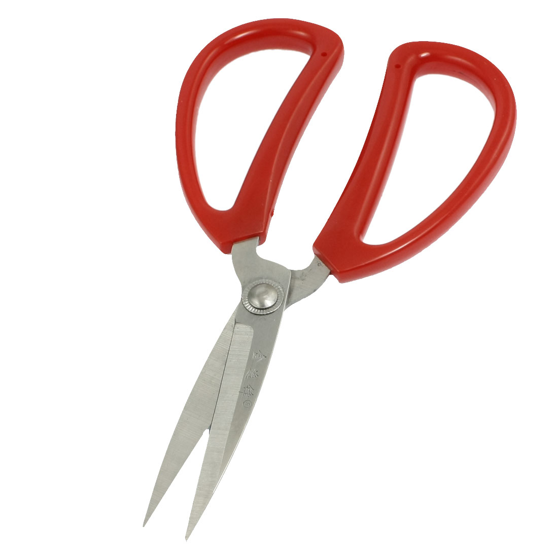 Home Red Plastic Handle Stainless Steel Blade Paper Craft Scissors