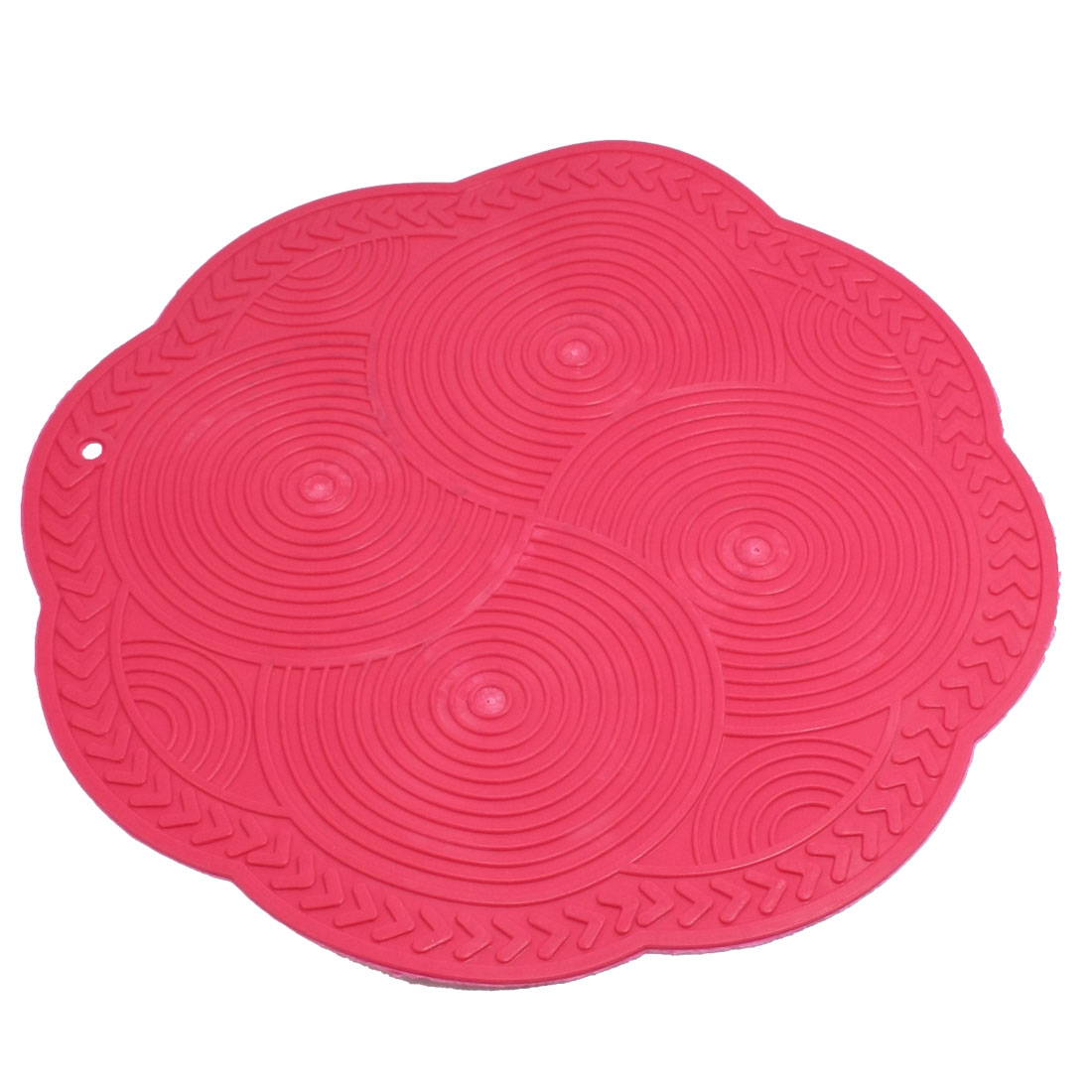 Kitchen Soft Plastic Amaranth Flower Shaped Heat Insulation Felt Pad Mat