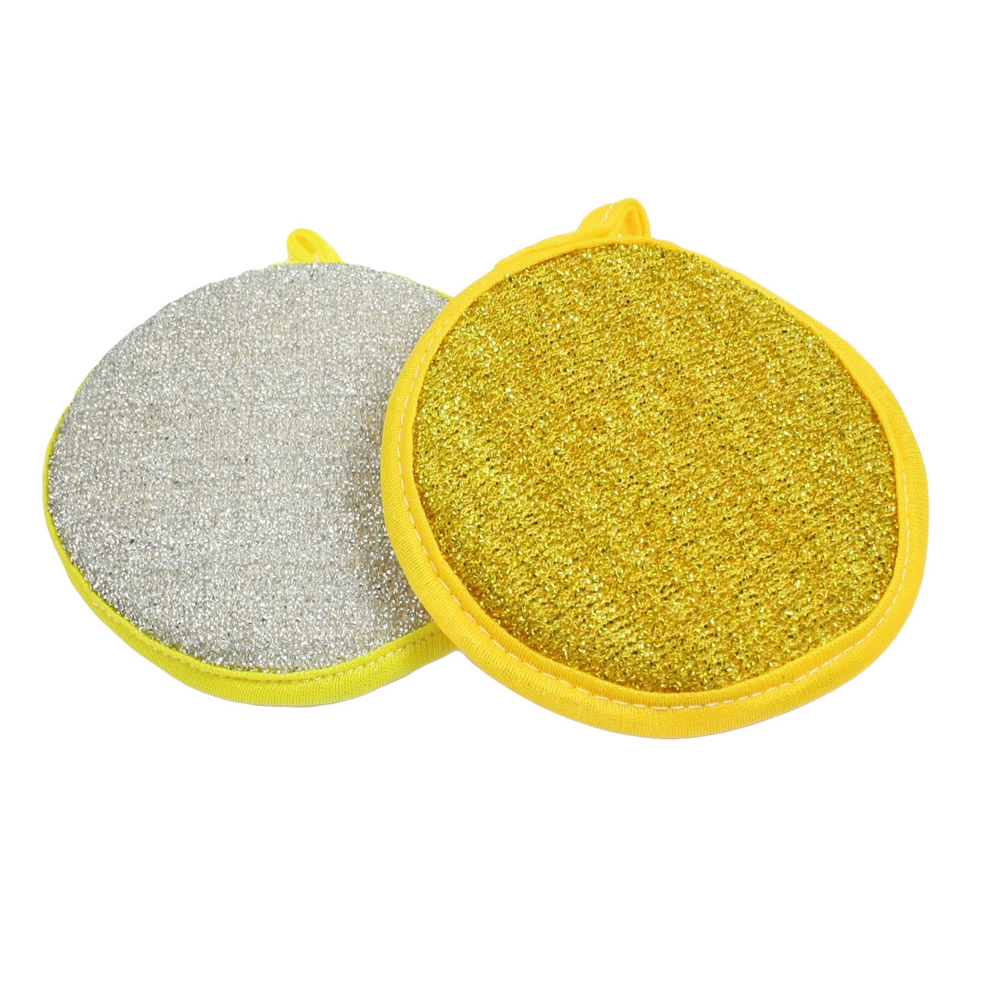 2 Pcs Round Shaped Dish Metallic Scrub Pad Cleaner for Home Kitchen