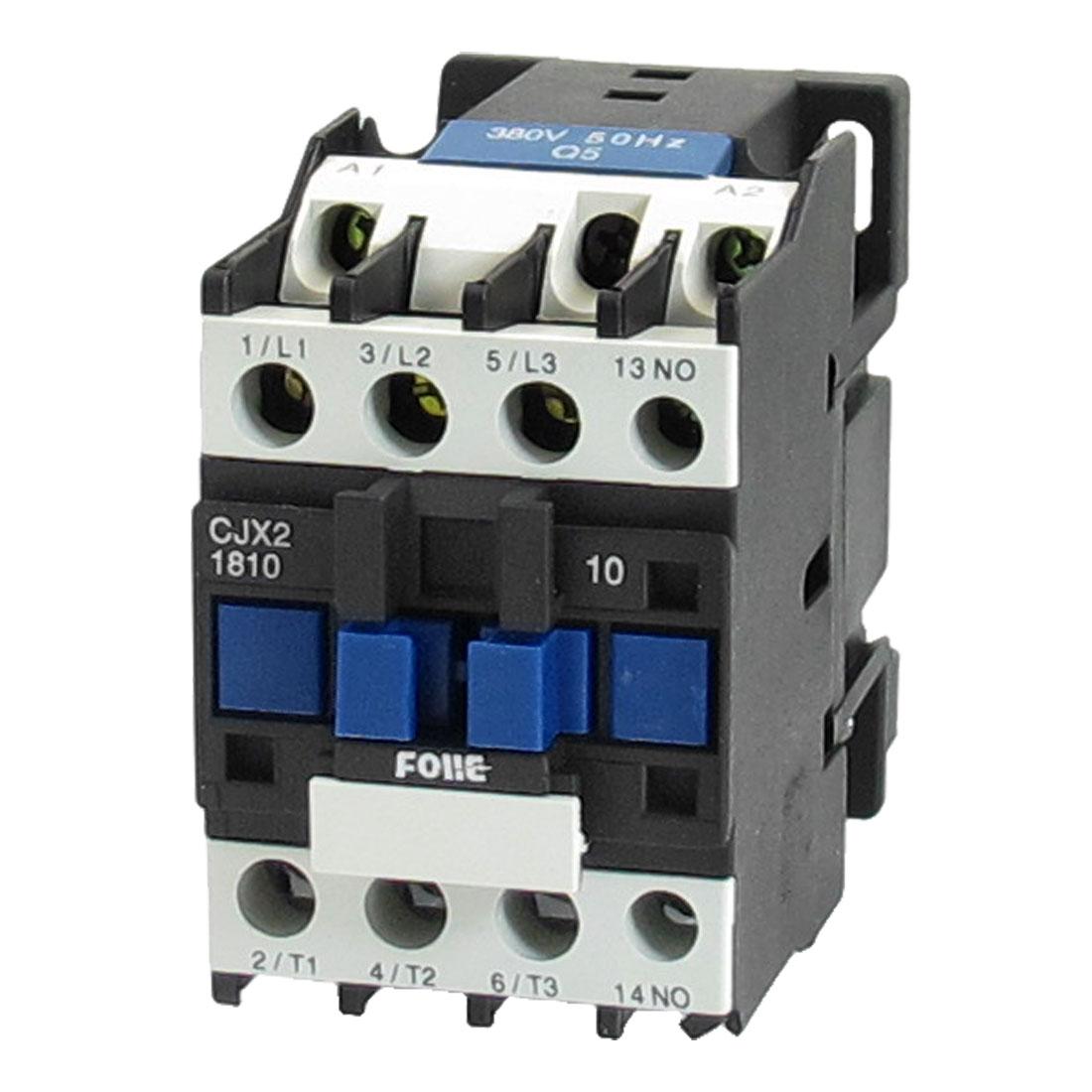 380V Coil Motor Controler AC Contactor 3P 3 Pole NO 660V 9KW CJX2-1810