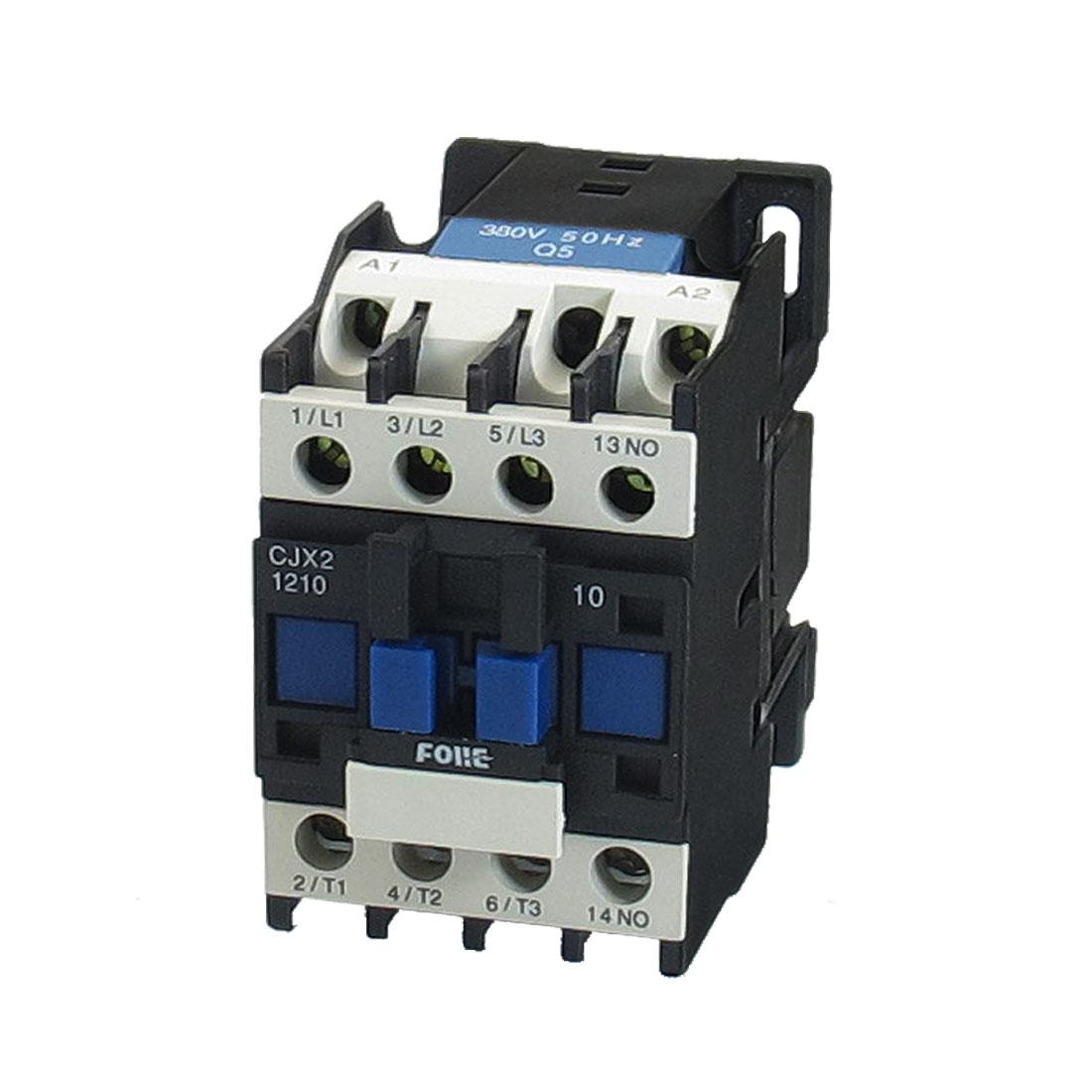 380V Coil Motor Controler AC Contactor 3P 3 Pole NO 660V 7.5KW CJX2-1210
