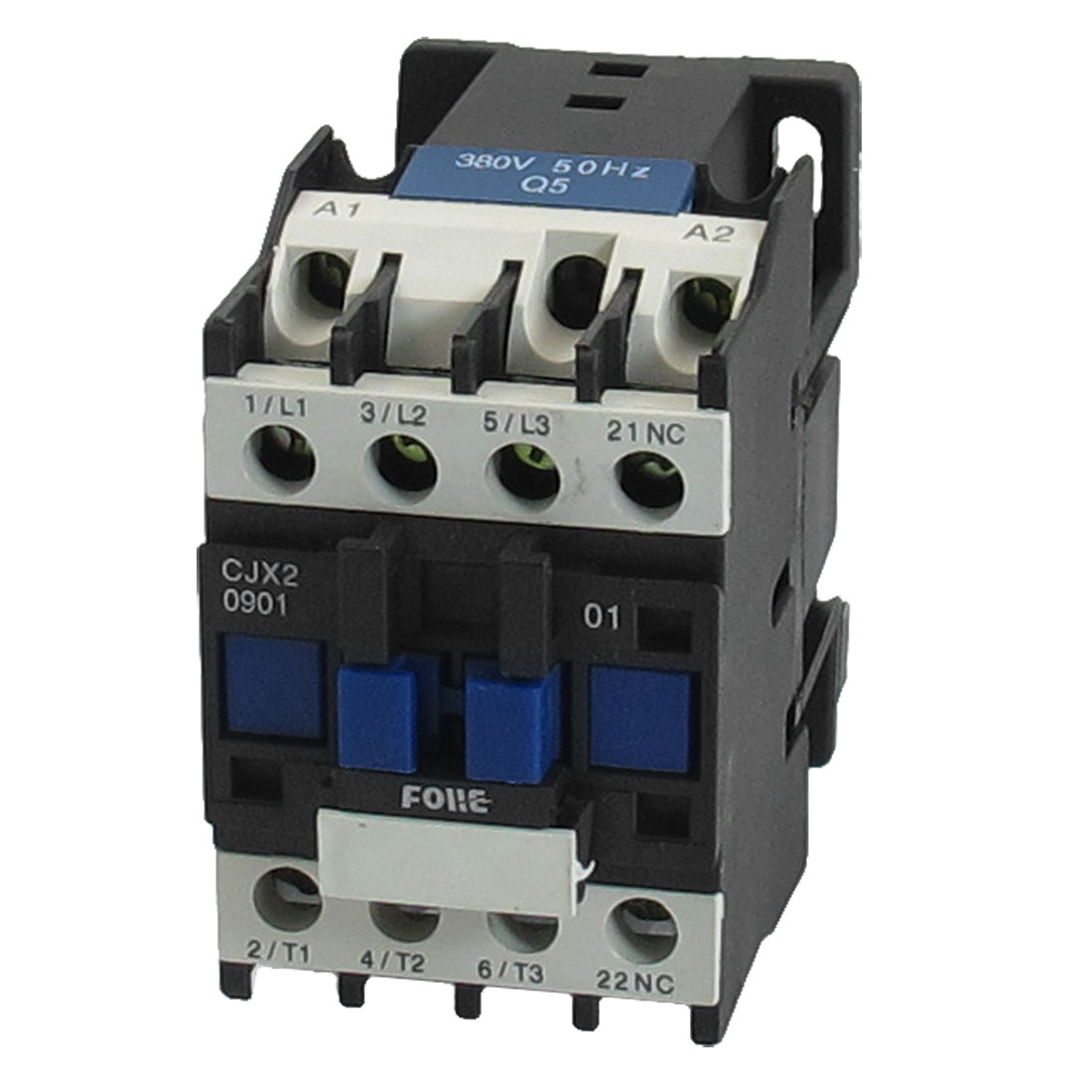 660V 5.5KW 3 Phase 3P N/C AC Contactor DIN Rail Mount 380V Coil CJX2-0901