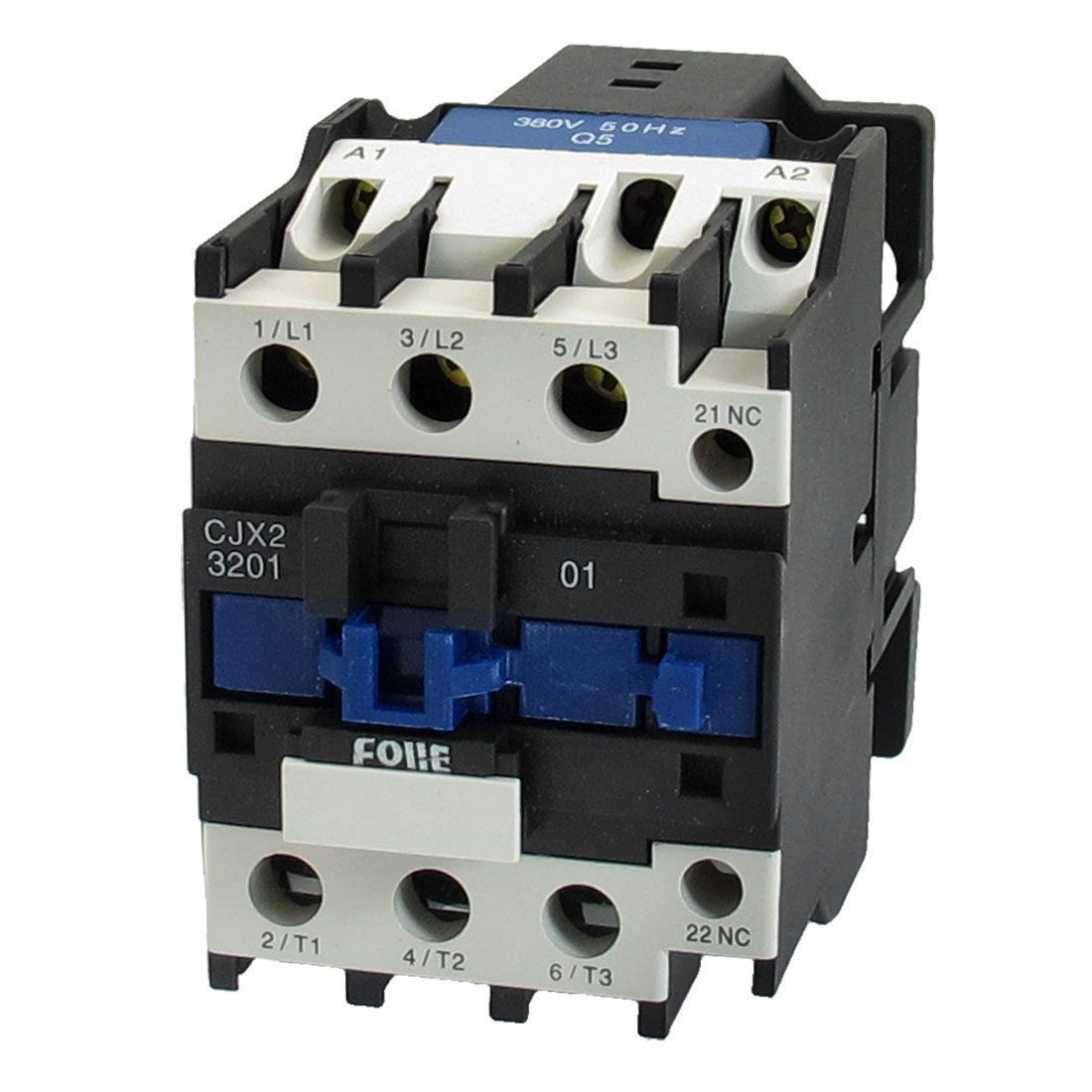 220V 32A 3 Phase 3P N/C AC Contactor DIN Rail Mount 380V Coil CJX2-3201