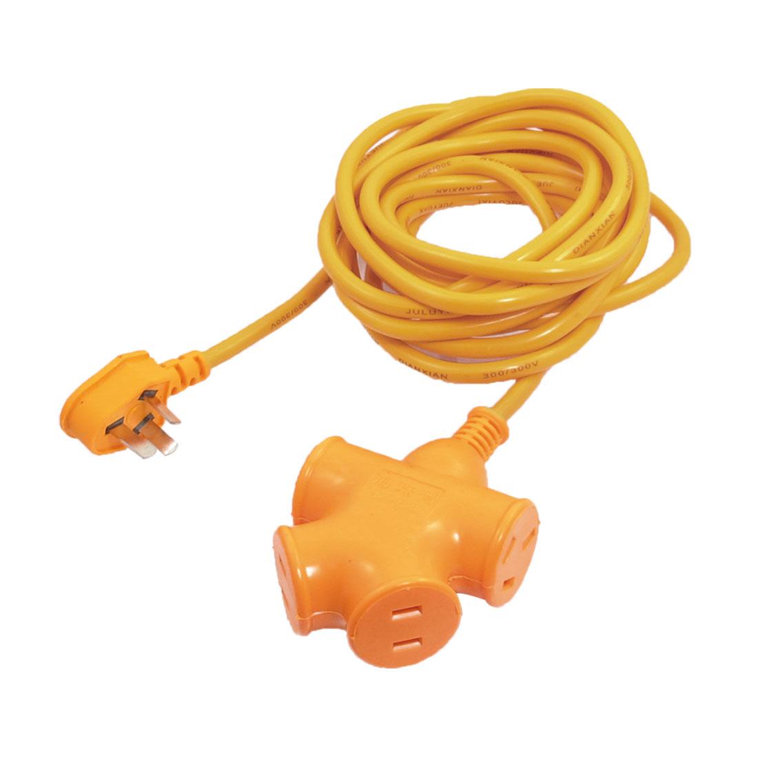 AC 250V 16A 3 Pin AU Plug to Flat 2-Pin Socket Power Cord Adapter 8m
