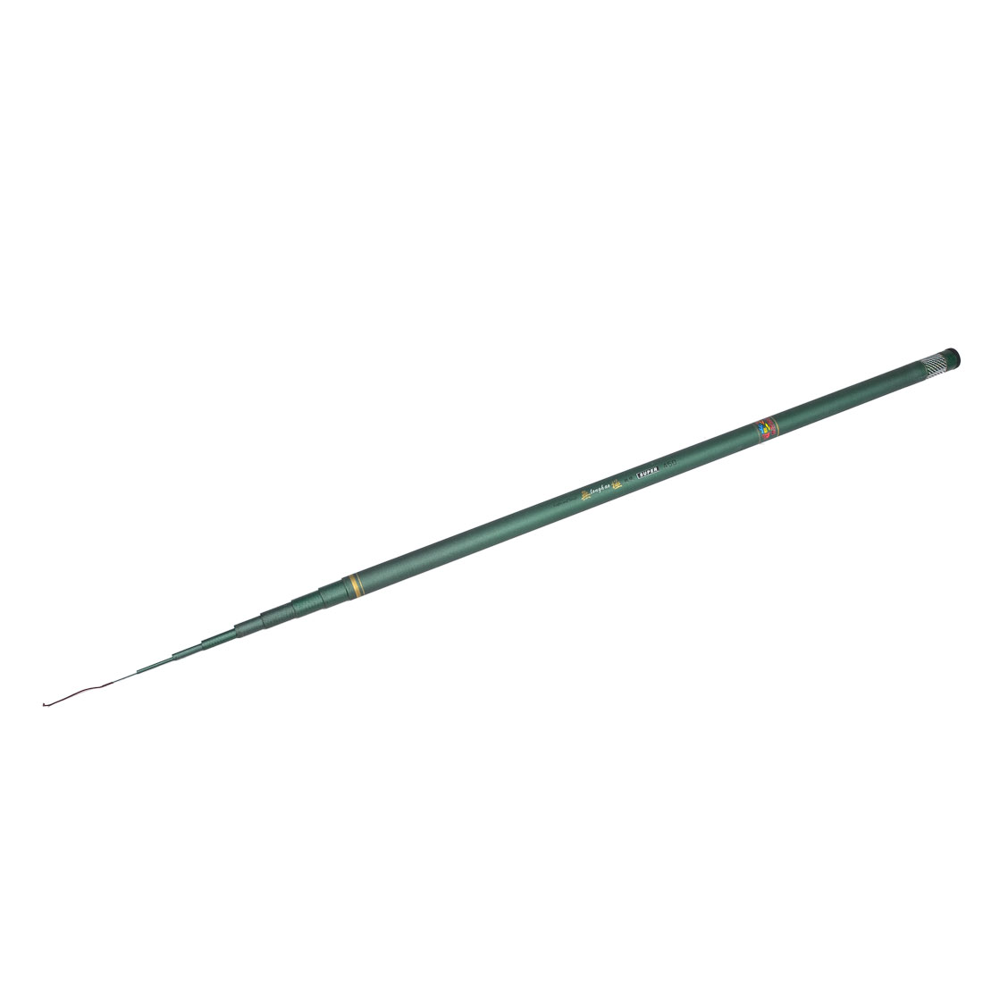 Green 2.6M 8 Section Telescopic Carbon Fishing Pole Rod