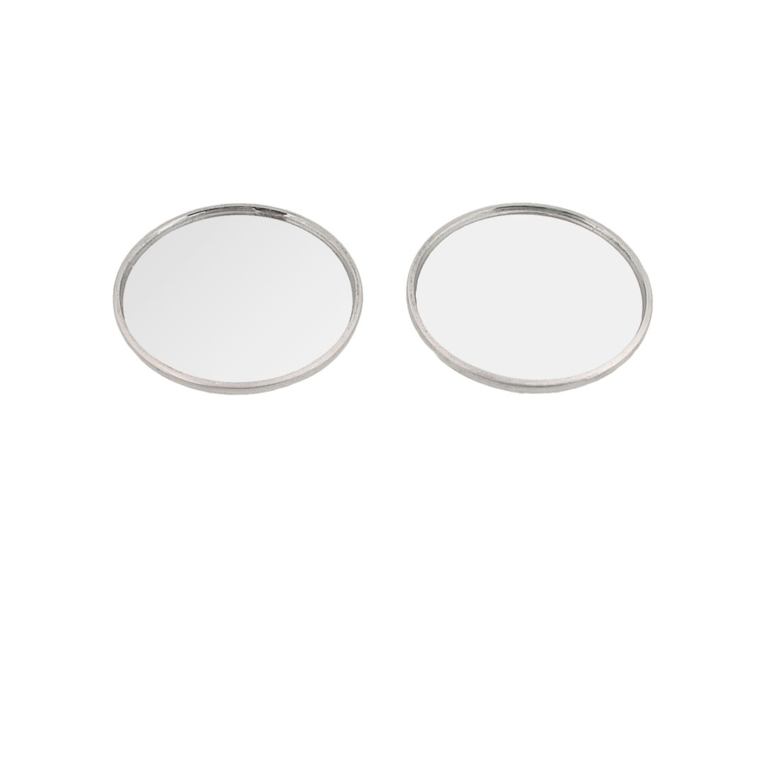 "2 Pcs 2"" Wide Angle Convex Round Blind Spot Mirror Silver Tone"