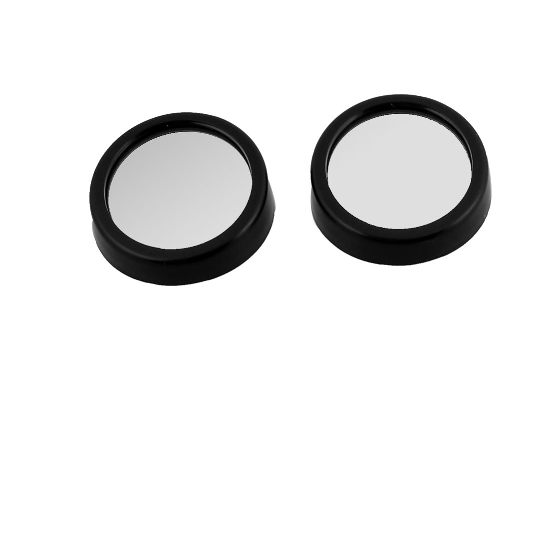 Auto Black Round Adjustable Angle 45mm Convex Blind Spot Mirror 2 Pcs