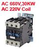 CJX2-4011 660V 34A 30KW 3 Poles 3P NO NC DIN Rail AC Contactor 220V Coil