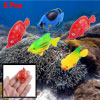 5 Pcs Assorted Color Plastic Swing Tail Tropical Fish Decor for Aquarium