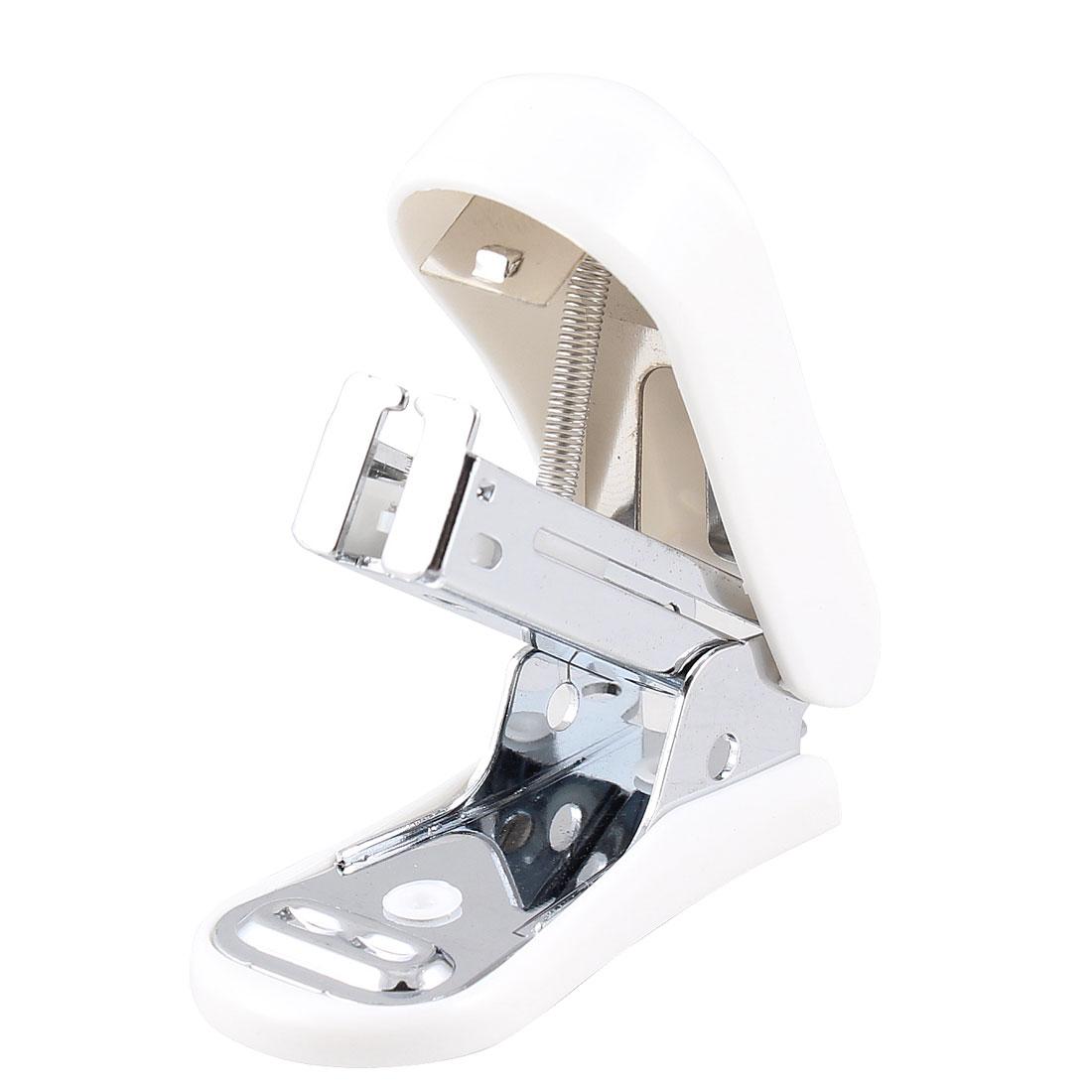Remover Back Offwhite Plastic Shell Office Stapler w 640 Pcs NO.40 Staples