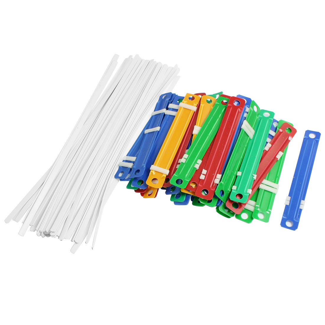 Office Plastic Binding Two-Piece Document Paper Fastener Colorful 50 Pcs
