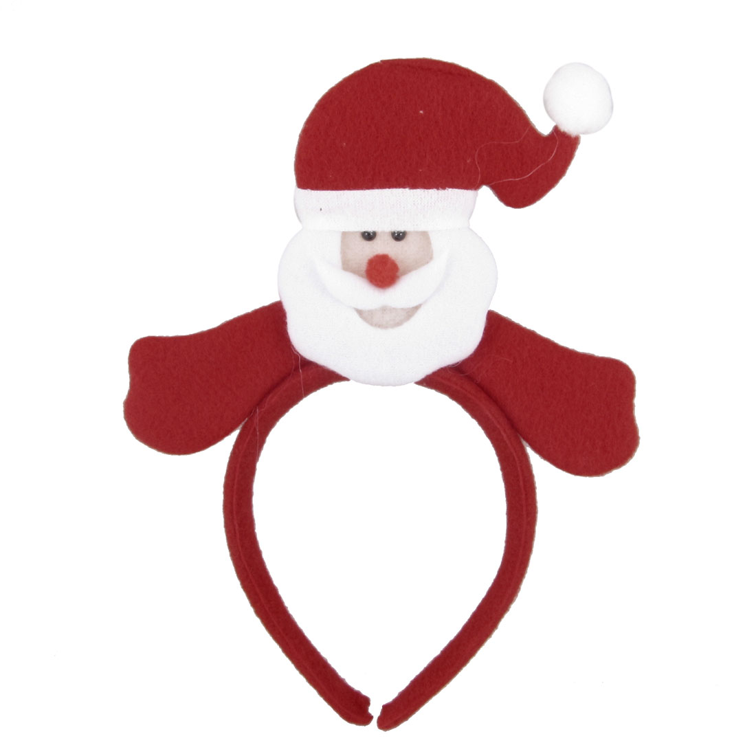 Red White Santa Claus Detail Felt Coated Christmas Xmas Hairband for Child