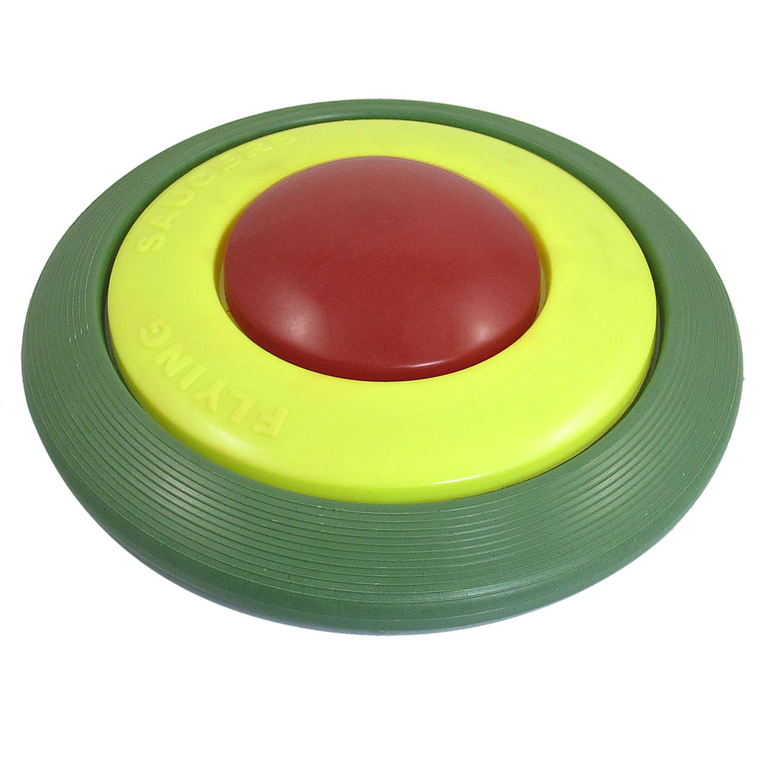 "Child Kid Plastic 8.7"" Dia Flying Round Disc Frisbee Toy Green Yellow Red"