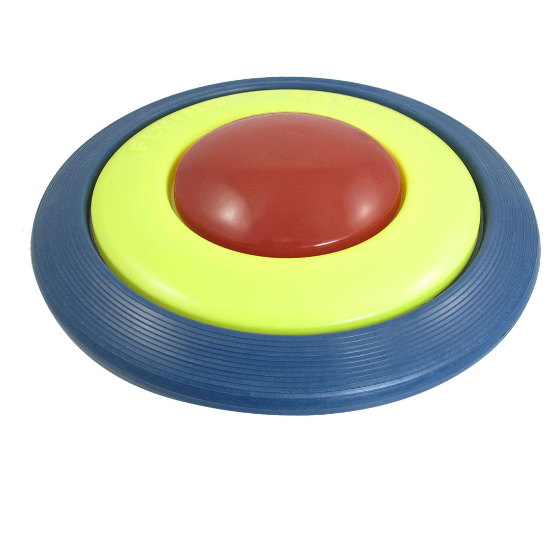 "Child Kid Plastic 8.7"" Dia Flying Disc Frisbee Toy Dark Blue Yellow Red"